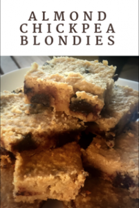 Gluten Free Almond Chickpea Blondies