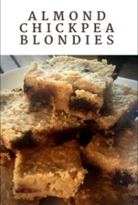 Gluten Free Almond Chickpea Blondies