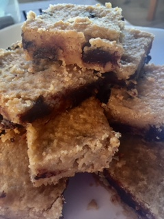 Gluten Free Almond Chickpea Blondies, Healthy, Dessert