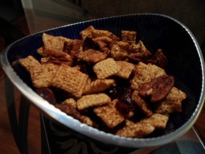 Bowl of Harvest Chex Mix