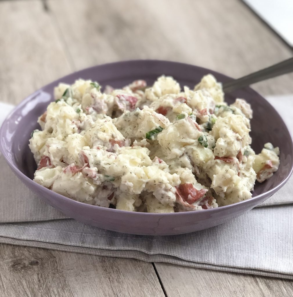 Healthier Red Skin Potato Salad