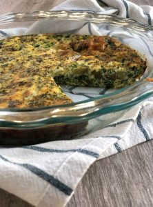 Easy Crustless Quiche with Potatoes and Spinach