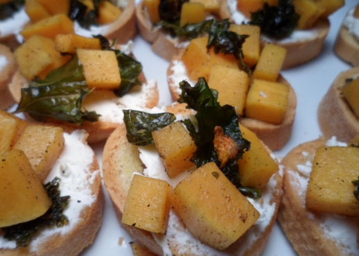 Gluten Free Butternut Squash Crostinis