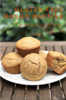 These gluten free mango muffins can also be made into mango bread or vegan!
