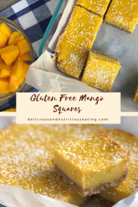 Gluten Free Mango Squares
