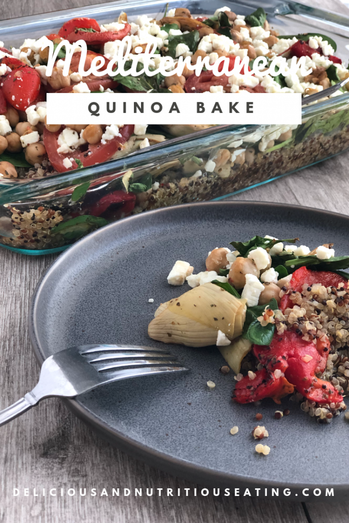 Easy, vegetarian, and gluten free Mediterranean Quinoa Bake