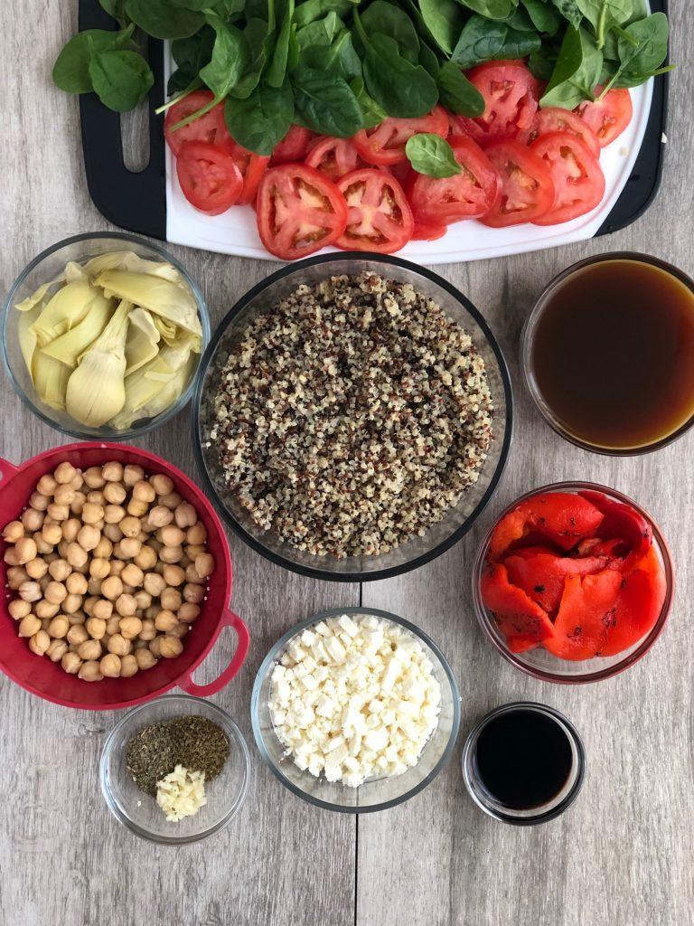 Easy, vegetarian, and gluten free Mediterranean Quinoa Bake