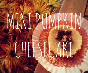 Gluten Free Mini Pumpkin Cheesecakes