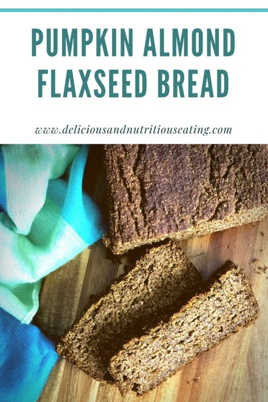 This gluten free pumpkin almond flaxseed bread is subtly sweet and perfect for breakfast, a snack or dessert