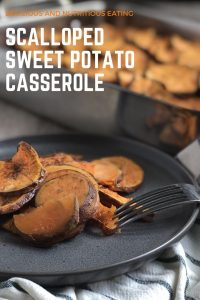 This scalloped sweet potato casserole is free of the common allergens, vegan, and made with only 5 ingredients