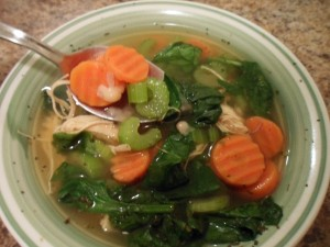 Chicken and White Bean Soup with Veggies