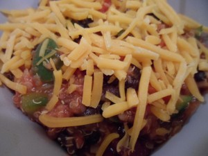 Hearty Veggie Chili with Cheese