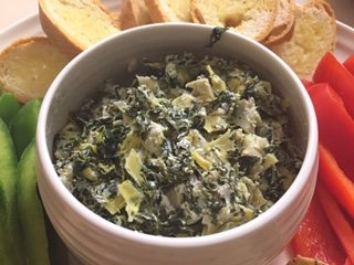 Easy Healthy Spinach Artichoke Dip