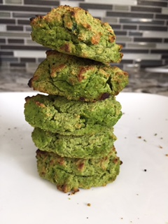 Gluten free and Healthy Baked Spinach Chickpea Fritters