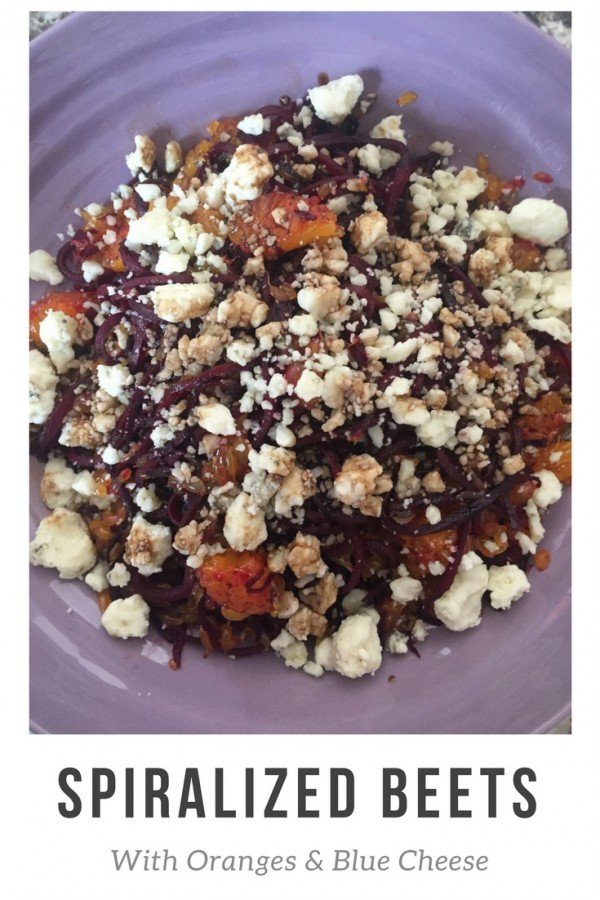 Spiralized Beets with Oranges and Blue Cheese