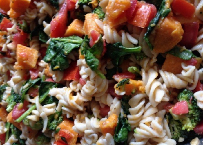Sweet Potato Pasta Salad, Healthy, Gluten Free, Simple. Easy, Cold