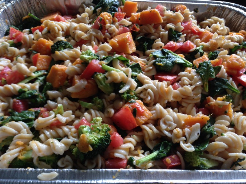 Healthy, Sweet Potato Pasta Salad, Whole Grain, Easy,
